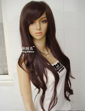 Japan Clair Beauty Natural Brown Long like Authentic Human hair Wig + Gift AE234