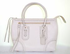 ALEXANDER McQUEEN IVORY LEATHER LARGE WHIPSTITCH FOLK TOTE BAG BNWT