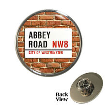 Abbey Road Metal Pin Badge Famous London Studio Street Sign Beatles NW8 NEW