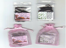 BABY FAVORS 25 ELMO *GIRL* PINK ORGANZA FAVORS with  BABY'S BREATH SEEDS + POEM