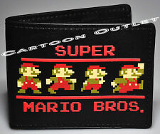 SUPER MARIO BROS. WALLET 100% ORIGINAL NWT CHRISTMAS GIFT NINTENTO BIOWORLD
