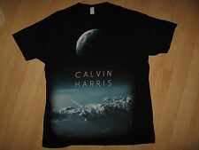 Calvin Harris Tee - 2012 Scottish Singer Concert Tour Black T Shirt Large