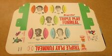 1977 Burger Chef Minnesota Twins Triple Play Fun Meal Game and Cards Unopened