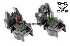 A.P.S. Airsoft Toy Rhino Rear & Front Sight With Fiber Optic (Black) APS-GG047B