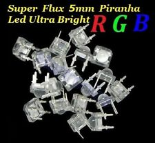 100pcs SuperFlux 5mm Piranha LED 5 colors Red/Green/Blue/Yellow/White each 20pcs
