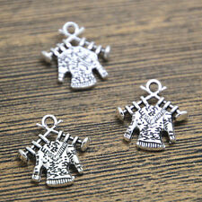 20pcs Knitted Sweater Charms Silver Plated Knitting Sweater pendant 17x18mm