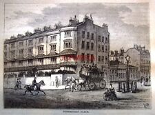 Antique 1876 'Old London' Engraved Print - 'Connaught Place, Tyburn'