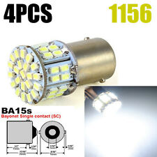 4PCS 1156 BA15S 50 SMD 1206 Car Fog Signal Tail  Brake Reverse LED Light White