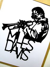 "MILES DAVIS,Original Pop Art, 4½""X 6"" inches Jazz vinyl decal sticker portraits"