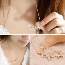 Luxurious Women Delicate Crystal Butterfly Cute Chokers Clavicle Chain Necklace