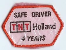 TNT Holland safe. driver patch 4 years 2-1/2 X 2-1/2  x 4