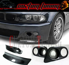 CSL STYLE CARBON FIBER BUMPER LIP SPLITTER+FOG LIGHT COVER FOR 01-06 BMW E46 M3