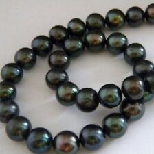 Charming AAA+ 9-10mm Black Tahitian Pearl Bead 15inch