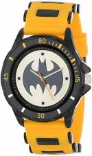 Batman Watch with Yellow Utility Belt Style Rubber Strap Presentation Box NEW