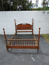 Ethan Allen Maple Poster Full Size Bed   7840