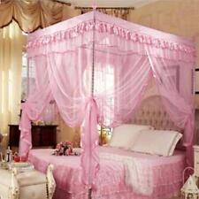 Pink Fairy Princess Mosquito Net 4 Poster Bed Canopy Single Bed