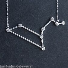 Leo Constellation Necklace - 925 Sterling Silver - Stars Horoscope Zodiac NEW