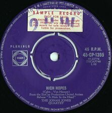 Jonah Jones Quartet ORIG OZ Promo 45 High hopes VG+ '59 Capitol CP1395 Jazz