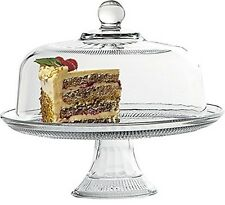 Anchor Hocking Annapolis Covered Cake Stand - Glass Cake stand and dome