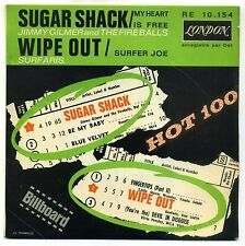JIMMY GILMER : SUGAR SHACK / SURFARIS : WIPE OUT EP LONDON 10154