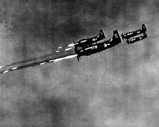 New 8x10 Korean War Photo: Douglas AD-4 Skyraiders Fire Rocket at Enemy Position
