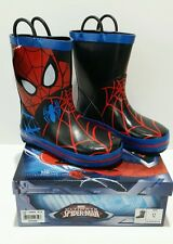 TODDLER BOYS SIZE 12 MARVEL SPIDERMAN RAIN BOOTS New With Tags
