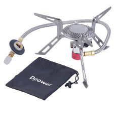 Dpower Mini Portable Folding Camping Gas-powered Stove with Piezo Ignition HR