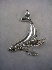 WHALE PENDANT CHARM IN STERLING SILVER