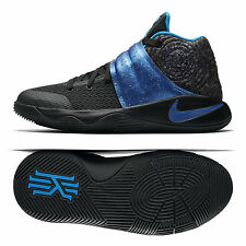 Nike Kyrie 2 (GS) 'WET' 826673-005 Black/Blue Glow/Anthracite Kids Shoes Sz 4.5Y