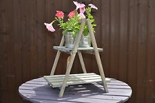Rustic shabby chic wood plant stand shop display garden shelf wedding party