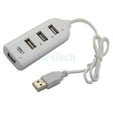 New Mini 4 Port USB 2.0 High Speed Hub for PC Laptop White