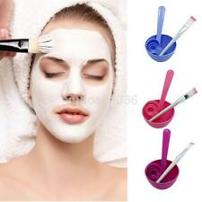 4 in 1 DIY Facial Mask Mixing Bowl Brush Spoon Stick Tool Face Care Set Cool UK