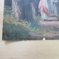 "Art world Mystery...Unseen/unknown Signed ""J.F. Hennings Munchen"" painting"