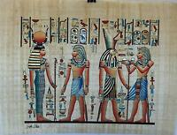 "NEW HAND PAINTED EGYPTIAN PAINTING ON PAPYRUS 12""x16"" A55"