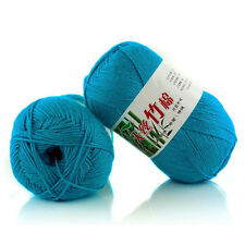 Light Blue Bamboo Crochet Baby Soft Cotton Yarn Knit Knitting Wool Yarn 50g  bai