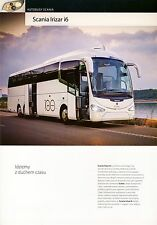 Scania Irizar i6 10 / 2014 catalogue brochure autocar autobus