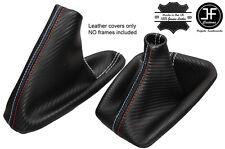 Aspetto di carbonio Bianco Stitch Ghetta Del Cambio Freno a Mano per BMW e36 e46 91-05 M Stitch