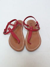 K. Jacques Sandal Picon Leather T-Strap Red Size 38 Gently Worn