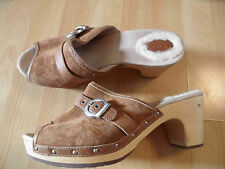 Ugg superbe bois Mules camel taille 41 top th616