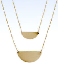 "BP Gold-Tone HALF MOON Pendant Layering 28"" Necklace"