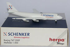 Herpa 502474 Boeing 747-200F Fantasy Schenker International in red titles 1:500