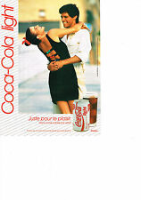 PUBLICITE  1992    COCA- COLA LIGHT