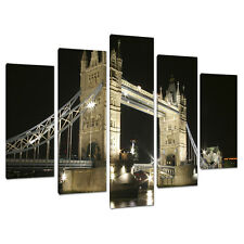 Five Part 5 Canvas Wall Art Pictures London Cities Prints 5023