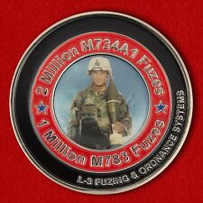 Challenge coin of the group of experts for the disposal of mortar fuses marine C