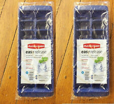 RUBBERMAID *DARK BLUE* EASY RELEASE ICE CUBE TRAY 2867-RD SET OF 2 NEW