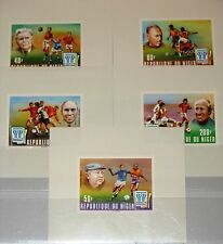 NIGER 1977 593-7 412-16 DELUXE Sheets Soccer World Cup 1978 Fußball Football MNH