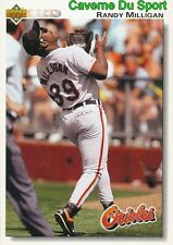 181 RANDY MILLIGAN BALTIMORE ORIOLES BASEBALL CARD UPPER DECK 1992
