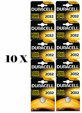 NEW 10 X DURACELL CR2032 - LITHIUM BATTERIES DURALOCK - 2032 3V DL2032 BR2032 CR