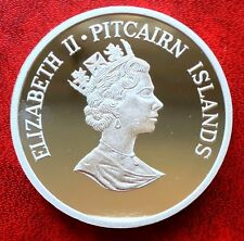 2002 Pitcairn Islands Coin $5 Silver Proof Save the Whales
