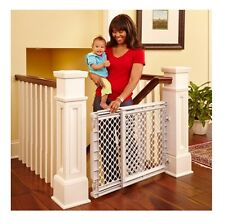 Baby Safety Gate Walk Thru Easy Step Toddler Pet Child Stairway Infant Dog Fence